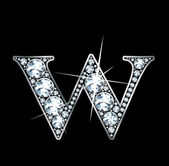 """Diamond """"W"""" — Stock Vector"""