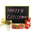 Christmas gift with white background — Stock fotografie