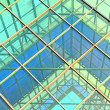 Contemporary office building blue glass wall detail — Stock Photo #5434859