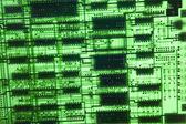 Lege groene elektronisch bestuur — Stockfoto