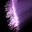 Fiber optics background with lots of light spots — Stock Photo