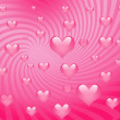 Sweet red hearts — Stock Photo