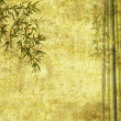 Light Golden bamboo Background great for any project. frame of bamboo-leave — Stock Photo