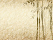 Bamboo on old grunge antique paper texture — 图库照片