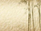 Eski antik kağıt doku üzerinde bambu — Stok fotoğraf