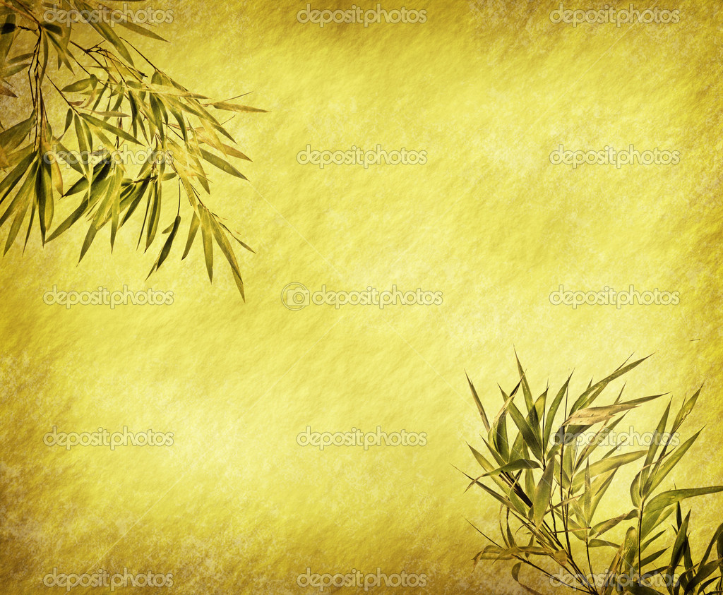 Light Golden bamboo Background great for any project. frame of bamboo-leaves background.  — Stock Photo #5777612