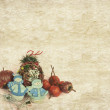 Christmas background with decorated — Stock Photo