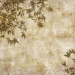 Silhouette of branches of bamboo on paper background — Stock Photo #6552804
