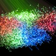 fiber optics background with lots of light spots — Stock Photo