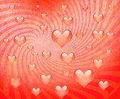 Heart painted on grunge paper — Stock Photo