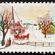 Royalty-Free Stock Photo: Postage stamp USA 1969 Winter