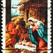 Postage stamp USA 1970 Nativity by Lorenzo Lotto — Stock Photo