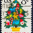 Postage stamp USA 1973 Christmas tree - Stock Photo