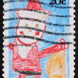 Postage stamp USA 1984 children's Drawing — Stock Photo