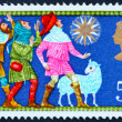 Royalty-Free Stock Photo: Postage stamp GREAT BRITAIN  1969 The Three shepherds