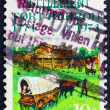 Postage stamp USA 1974 Fort Harrod and oxcart — Stock Photo