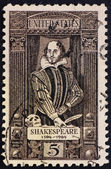 Postage stamp USA 1964 William Shakespeare — Stock Photo
