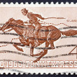 Royalty-Free Stock Photo: Postage stamp USA 1960 Pony Express Rider