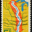 United States of America - circa 1966: a stamp printed in the Un — Stock Photo