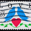 UNITED STATES OF AMERICA - CIRCA 1990: a stamp printed in the Un — Stock Photo