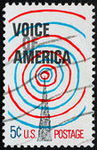 Postage stamp USA 1967 Voice of America — Stock Photo