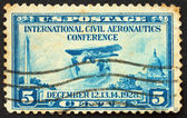 UNITED STATES OF AMERICA - CIRCA 1928: a stamp printed in the Un — Stock Photo