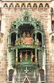 Glockenspiel on the Munich city hall — Stock Photo