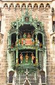 Zvonkohra na radnici v mnichově — Stock fotografie