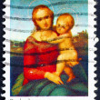 Postage stamp USA 1973 Small Cowper Madonna by Raphael — Stock Photo