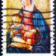 Постер, плакат: Stamp USA 1975 Madonna by Domenico Ghirlandaio