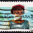 Postage stamp USA 1982 Juan Ponce de Leon, Spanish explorer — Stock Photo