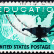 Stock Photo: Postage stamp US1962 Higher education