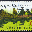 Postage stamp USA 1968 Father Jacques Marquette and Louis Jollie — Stock Photo