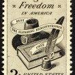 UNITED STATES OF AMERICA - CIRCA 1957: a stamp printed in the Un — Stockfoto