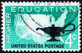 Estampilla usa 1962 educación superior — Foto de Stock