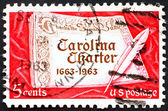 Postage stamp USA 1963 Carolina Charter — Stock Photo