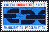 Postage stamp USA 1963 Emancipation Proclamation — Stock Photo