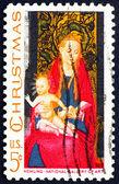 Affrancatura bollo usa 1966 madonna col bambino con angeli — Foto Stock