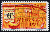 Postage stamp USA 1968 Daniel Boone — Stock Photo