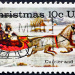 Postage stamp USA 1974 The Road Winter — Stock Photo