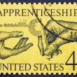 Postage stamp USA 1962 National Apprenticeship Program - Stock Photo