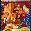 Postage stamp USA 1971 Adoration of the Shepherds - Stok fotoğraf