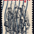 Stock Photo: Postage stamp US1982 Horatio Alger AmericAuthor