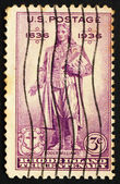 Postage stamp USA 1936 Statue of Roger Williams — Stock Photo
