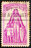 Postage stamp USA 1957 Allegory polio — Stock Photo