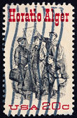 Postage stamp USA 1982 Horatio Alger American Author — Stock Photo
