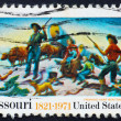 Postage stamp USA 1971 Missouri sesquicentennial issue - Stock Photo