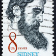 Postage stamp USA 1972 Sidney Lanier, American poet — Stock Photo