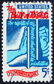 Postage stamp USA 1966 Bill of Rights — Stock Photo