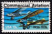 Postage stamp USA 1976 Planes of commercial aviation — Stock Photo